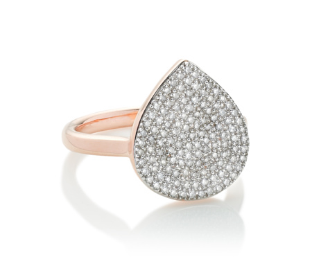 Alma Diamond Ring, Rose Gold Vermeil on Silver