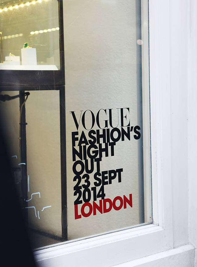 Vogue Fashion's Night Out window