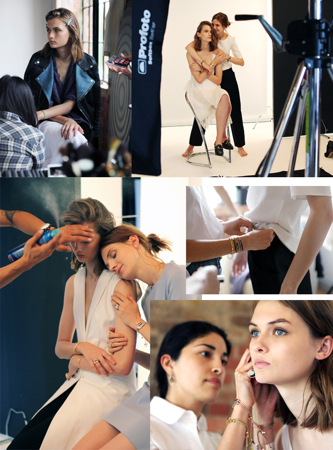 Monica Vinader AW14 campaign shoot