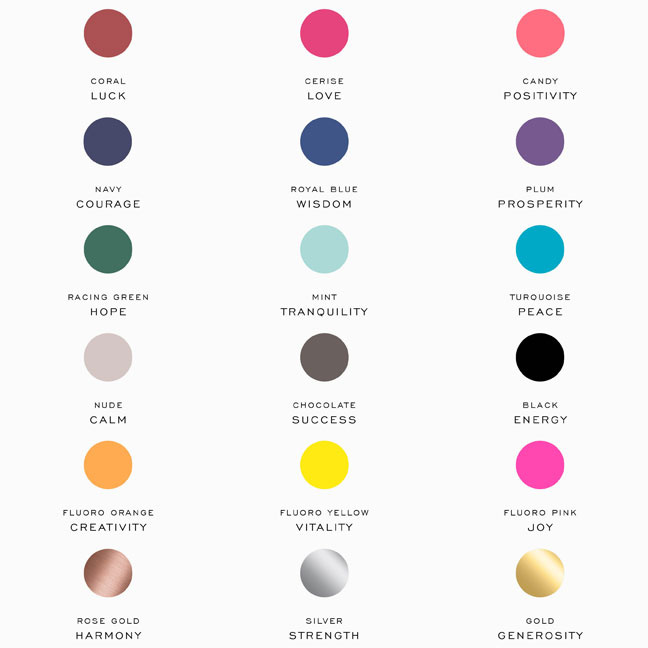 Friendship bracelet colour code monica vinader - Colors and what they mean for your space ...