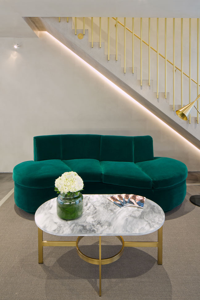 emerald green bespoke sofa