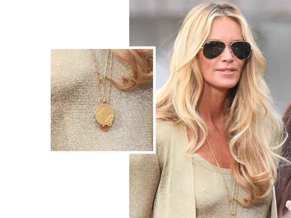 Elle McPherson wearing Monica Vinader