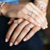 Rose Gold Vermeil Riva Diamond Wave Stacking ring - Diamond - Monica Vinader