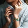 Gold Vermeil Linear Stone Bracelet - Turquoise - Monica Vinader