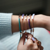 Rose Gold Vermeil Linear Stone Bracelet - Turquoise - Monica Vinader