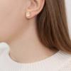 Gold Vermeil Petra Stud Earrings - Moonstone - Monica Vinader
