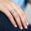 Gold Vermeil Riva Diamond Wave Triple Ring - Diamond - Monica Vinader