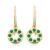 Gold Vermeil Pop Earrings - Green Onyx - Monica Vinader