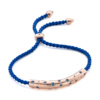 Rose Gold Vermeil Esencia Scatter Friendship Bracelet - Swiss Blue Topaz - Monica Vinader
