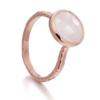 Rose Gold Vermeil Mini Luna Ring - Moonstone - Monica Vinader