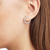 Riva Diamond Circle Earrings - Diamond - Monica Vinader