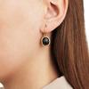 Gold Vermeil Siren Wire Earrings - Black Line Onyx - Monica Vinader