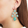 Rose Gold Vermeil Siren Chandelier Earrings - Amazonite - Monica Vinader