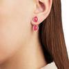 Rose Gold Vermeil Siren Jacket Earrings - Pink Quartz - Monica Vinader