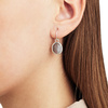 Rose Gold Vermeil Siren Wire Earrings - Grey Agate - Monica Vinader