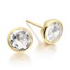 Gold Vermeil Isla Stud Earrings - White Topaz - Monica Vinader