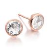 Rose Gold Vermeil Isla Stud Earrings - White Topaz - Monica Vinader