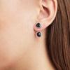 Siren Jacket Earrings - Black Line Onyx - Monica Vinader