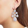 Siren Chandelier Earrings - Blue Lace Agate - Monica Vinader