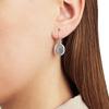 Siren Wire Earrings - Grey Agate - Monica Vinader