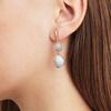 Rose Gold Vermeil Siren Double Nugget Drop Earrings - Grey Agate - Monica Vinader