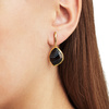 Gold Vermeil Siren Large Nugget Earrings - Black Line Onyx - Monica Vinader