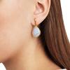 Gold Vermeil Siren Large Nugget Earrings - Blue Lace Agate - Monica Vinader