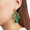 Gold Vermeil Siren Chandelier Earrings - Green Onyx - Monica Vinader