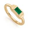Gold Vermeil Baja Deco Ring - Green Onyx - Monica Vinader