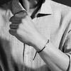 Rose Gold Vermeil Linear Men's Friendship Bracelet - Black - Monica Vinader