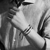 Gold Vermeil Havana Men's Friendship Bracelet - Black - Monica Vinader