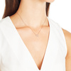 Rose Gold Vermeil Riva Mini Circle Necklace - Diamond - Monica Vinader