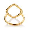 Gold Vermeil Riva Hoop Cocktail Ring - Diamond - Monica Vinader