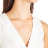 Gold Vermeil Riva Mini Circle Necklace - Diamond - Monica Vinader