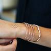 Rose Gold Vermeil Riva Diamond Hero Wave Cuff - Large - Diamond - Monica Vinader