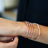 Rose Gold Vermeil Riva Diamond Wave Cuff - Large - Diamond - Monica Vinader