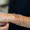 Rose Gold Vermeil Riva Diamond Wave Cuff - Small - Diamond - Monica Vinader