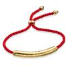 Gold Esencia Friendship Bracelet Coral Red