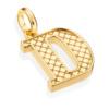 Gold Vermeil Alphabet Pendant D 2