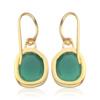 Gold Vermeil Siren Wire Earrings - Green Onyx - Monica Vinader