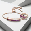 Rose Gold Vermeil Baja Bracelet - Purple Quartz Still Life