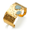 Gold Vermeil Siren Odyssey Cuff - Aquamarine