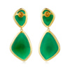 Gold Vermeil Siren Cocktail Earrings - Green Onyx back