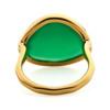Gold Vermeil Siren Ring - Green Onyx back