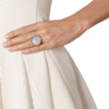 Rose Gold Vermeil Siren Cocktail Round Ring - Blue Lace Agate model shot