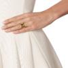 Gold Vermeil Siren Scatter Wide Band Ring - White Topaz model