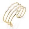 Gold Vermeil Riva Hero Wave Cuff