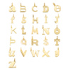 Gold Vermeil Alphabet Pendant V - Monica Vinader