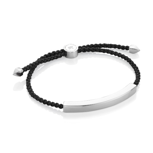Linear Large Men's Friendship Bracelet - Black - Monica Vinader