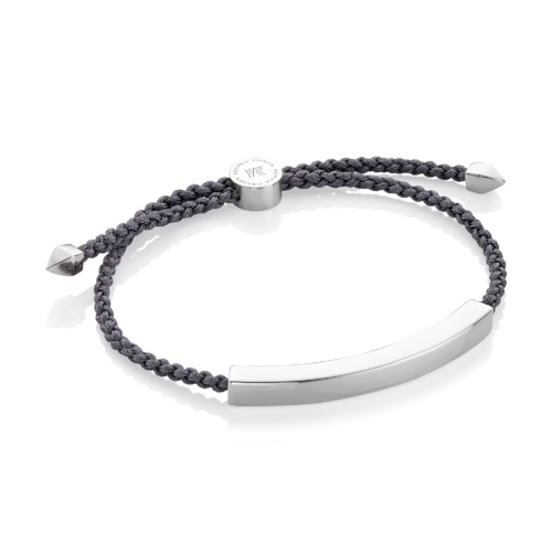 Linear Large Friendship Bracelet - Steel Grey - Monica Vinader